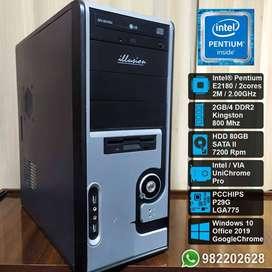 CPU Computadora Intel Pentium Dual Core E2180
