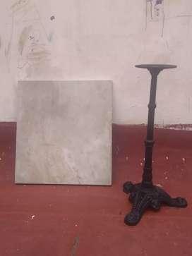 Pie de mesa con mármol