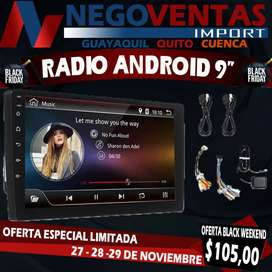 RADIO ANDROID DOBLE DIN 9""