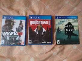 Juegos PS4 3 juegos usados por 120 mil