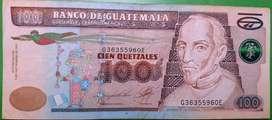 billete de 100 quetzales de Guatemala coleccionables