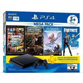 PS4 Slim 1Tb Combo PlayStation 4 + Juegos y Plus