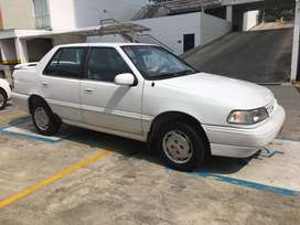 Automovil sedan Hyundai Excell 1993 Color blanco