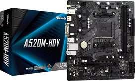 Board A520m HDV Asrock ryzen