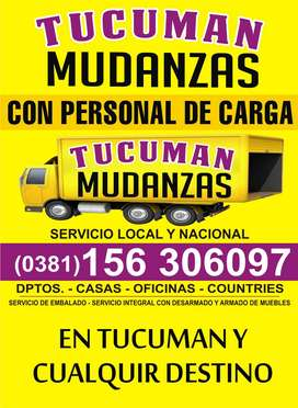 MUDANZAS 38163O6O97 TUCUMAN Y TODO EL PAIS