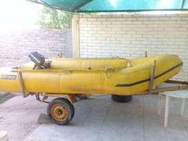 Vendo bote a motor inflable, excelente estado