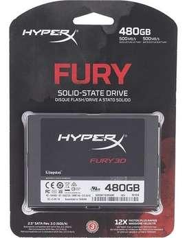 Unidad de estado sólido SSD Hyper X Fury 3D 480GB