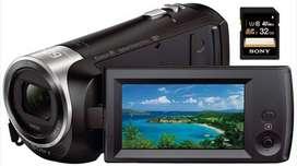 Filmadora Sony Handycam Cx440 Wifi Nfc Sensor Exmorr 1080p con SD Sony de 32gb clase 10.