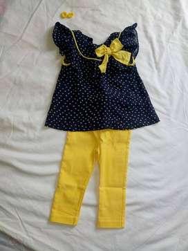 conjunto blusa y pantalón cielito 3-9 meses