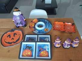 Vendo juego de platos decorativos para Halloween
