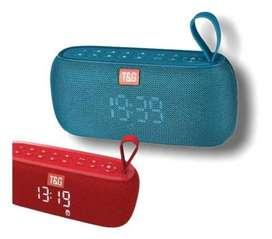 Parlante Bluetooth Con Reloj Tg-177