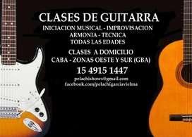 CLASES DE GUITARRA A DOMICILIO CABA ZONAS OESTE Y SUR GBA