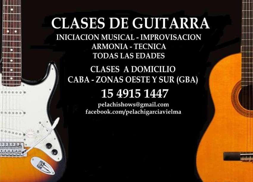 CLASES DE GUITARRA A DOMICILIO CABA ZONAS OESTE Y SUR GBA 0