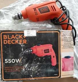 "Taladro de impacto BLACK DECKER 3/8"" 550w"