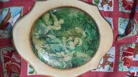 cuadro antiguo de 33cm de alto x 26 de ancho.
