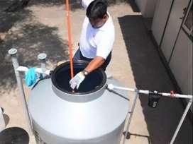 Limpieza de cisternas y tanques elevados