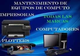 Mantenimiento a equipos de computo e impresoras