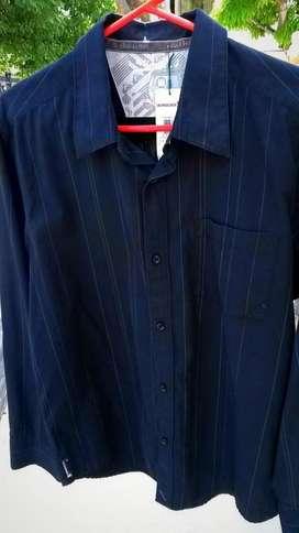 Camisa Quiksilver Manga Larga Color Negra Talla M Nueva
