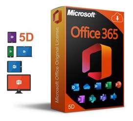 microsoft office 365 para 5 dispositivos