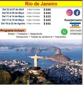 ¿Cuánto cuesta viajar a Rio de Janeiro Brasil?