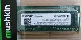 Memoria RAM 4 GB Mushkin portátil DDR4 pc4-2666