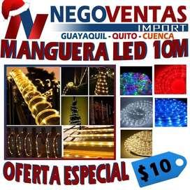 MANGUERA LED DECORATIVA EXTENSION DE 10 METROS