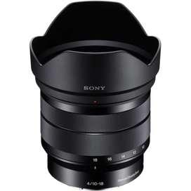 Lente Sony 10-18 mm F4
