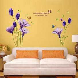 Hermoso Vinilo Decorativo De Las Flores Tulipán