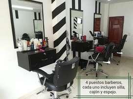 Se venden muebles para barberia