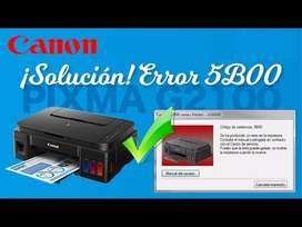 Solucion Error 5b00 impresoras canon
