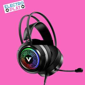 Auricular Daewoo Gamer COMBAT luces led microfono
