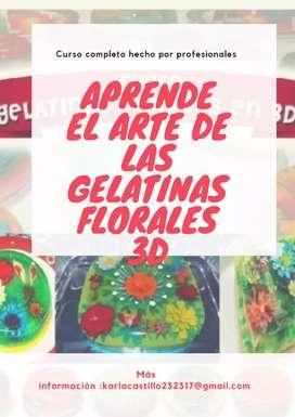 Aprende El Arte de las Gelatinas Florales 3D