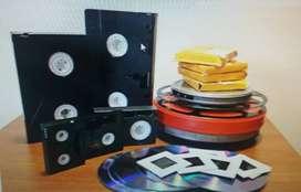Vhs a Dvd o Mp4 Betamax Minidv Super 8 Betacam Reel Audio Peru Mp3 Edición Conversion Super 8 Betacam Lima Peru Slides