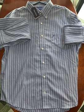 Camisa marca Nautica americana talla L hombre