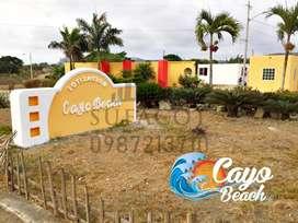 LOTES VACACIONALES 0987. 213710 | EN LA PLAYA DE PUERTO CAYO AL SUR DE MANTA, SOLO DE CONTADO, S1