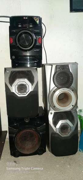 Vendo equipo de sonido en muy buen estado el precio es negociable