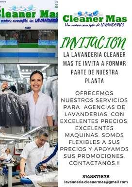 Ofrecemos nuestros servicio para agencias de lavanderias
