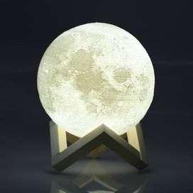 Lampara Luna 3d Led Recargable Con Diferentes Tonos de Luz - Garantia.