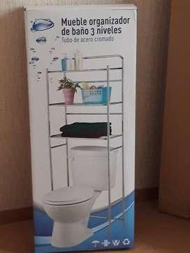 vendo Mueble organizador de baño 3 niveles