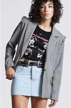 Pollera De Jeans. Minifalda Denim. Forever 21