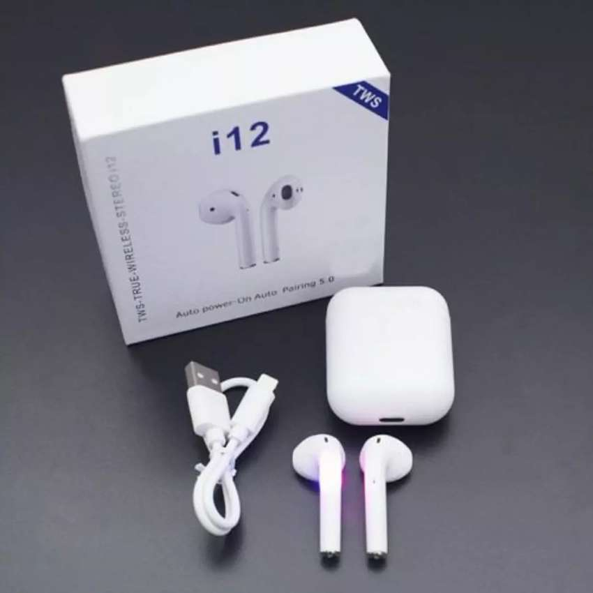 Airpods i12 Bluetooth, iPhone, Samsung, Motorola! 0