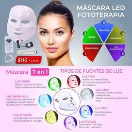 mascara led para fototerapia-fototerapia led