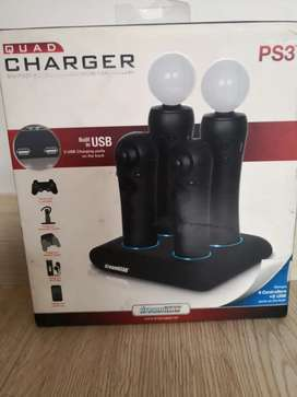 Cargador Quad para PS3 move y navigator