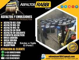 venta de asfalto rc-250 por cilindro de 55 galones