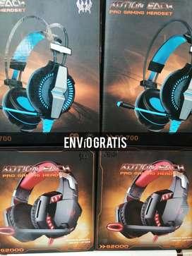 Oferta de Diademas Pro Gamer GS700 y G2000  Originales, Cascos Gaming, Auriculares Gamer