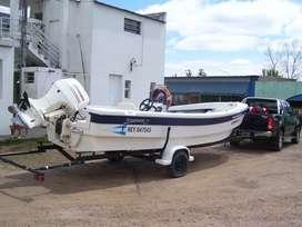 Marine Sur Quicksilver Aquamarine 6.40 Johnson 70 hp 4 tiempos
