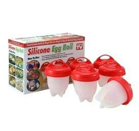 Silicona para huevo hervidor de huevos egg boil X6 unidades