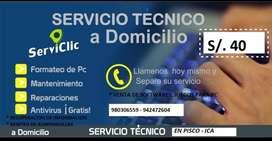 Servicio formateo e instalacion de laptop y pc computadora