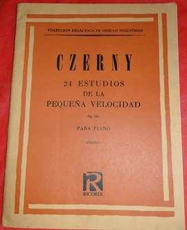 CZERNY 24 ESTUDIOS DE LA PEQUEÑA VELOCIDAD  OP 636   PARA PIANO  en LA CUMBRE