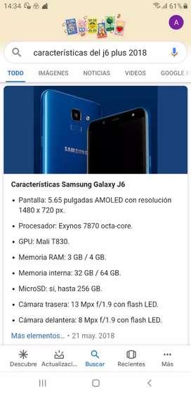 Vendo celular Samsung j6 Plus
